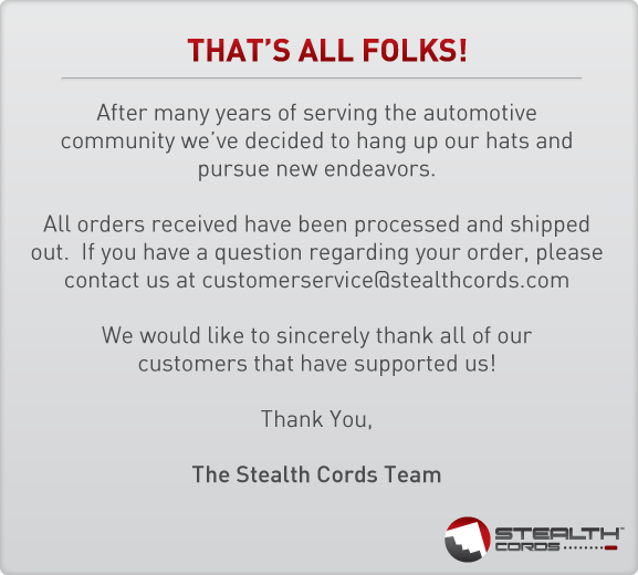 Stealth Cord is an innovative product that allows you to connect your BEL, Escort or Valentine1 radar directly to your powered rear view mirror. The Stealth Cord utilizes your automotive's powered rear view mirror to power your automotive accessory.   Our solution is compatible with many late model automobiles from Acura, Chevy, Infiniti, Lexus, Nissan, Pontiac and more.   Our list of compatible vehicles changes on a daily basis - if your vehicle is not listed, Stealth Cords will provide you with instructions on how to use a Voltmeter to determine the correct power (+) and ground (-) wires to tap into.   Simplify your interior by eliminating those unsightly accessory cords - purchase a Stealth Cord today!